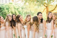Blush and Neutral bridesmaids / Wedding flowers for blush and neutral bridesmaids dresses