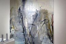 Abstrakt akryl konst