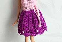 crochet dress for Barbie Doll