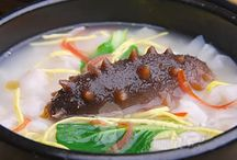 """Qingdao cuisine / Qingdao, regarded as the 'cradle of Shandong food', offers many seafoods as it is a coastal city. Well-known dishes are """"sea cucumbers stewed with shallots"""", """"stewed salted fish"""" and """"celery with creamy soup""""."""