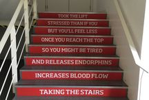 Stair Art / We're all about making stairs beautiful. Discover great ideas to make them look great. Find out more about StepJockey and our beautiful signage at: www.stepjockey.com/smart-signs-and-challenges