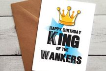 Swearing Birthday Cards / You love to swear and you know someone with an occasion coming up that also loves to swear ;)