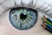 dessins yeux