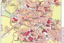Сиена. Карты Сиены. / Карты Сиены. Музеи, церкви.