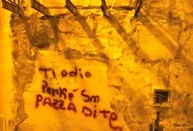 On the wall / write on the wall
