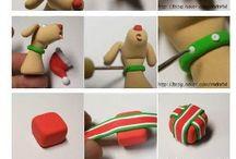 Modelliermasse Weihnachten