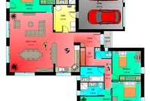 plan maison double garage 4 chambres