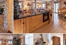 Log cabin interior by Odette Studio
