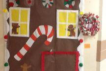 Christmas classroom doors