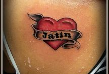 Heart Tattoos / Raj Yadav  www.facebook.com/InkExpert Owner :- Ink Expert Tattoo studio  Mo :- +919033666765