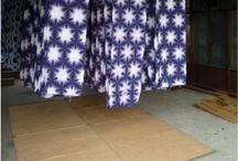 Shibori / Examples of beautiful shibori stitched and dyed fabrics and projects made with shibori fabric.