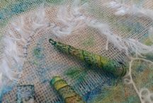 Mixed media and stitch workshop Garstang