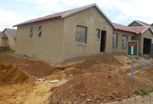 Photo's of houses in process ! / This board is about houses in our different developments that are in process of being build or the final finishes added. #Developments #Gauteng #affordablehousing