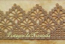 Croché e tricô -  Barrados, entremeios, rendas... / by Ana Maria Mateus