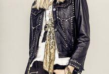 The Leather Attitude / Lejos del estilo rockero puro y duro, el cuero gana una nueva reputación combinado con prendas livianas, con transparencias o bordados étnicos.