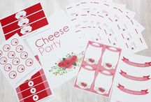 Cheese Party - Buffet de fromages de Suisse / **Cheese Party** Des idées pour un buffet fromages, des étiquettes imprimables gratuitement et un DIY !