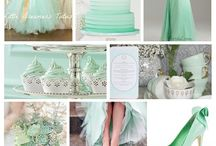 Mint wedding theme / A marvellous minty board for wedding inspiration!!!