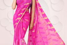 """Georgette Sarees / Light, textured, and simply amazing, the Georgette sarees are your answer to """"What do I wear for this special occasion?"""""""