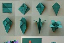 оригами цветы