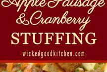 Thanksgiving dinner menu