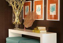 Orange & Blue Living Room Ideas