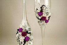 diy decorated glassez