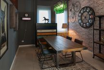 Sala da pranzo / Jodè Home & Design propone le nuove tendenze per l'arredamento della casa. Per chi ama la casa inusuale e decisamente personalizzata.
