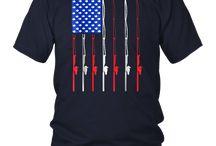 Patriotic Shirts Fishing American Flag Fisherman Shirt