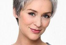 peinados en gris
