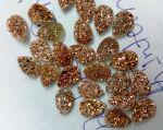 10x12mm Pear Natural Rose Gold Color Coated Druzy Loose Gemstone
