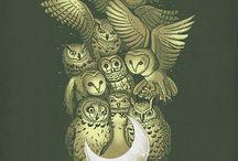 Tattoos Books and Owls