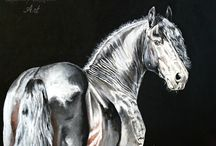 Horse Art Canvas / Horse art made by me, Lullaby Equine Art - Laura Usero