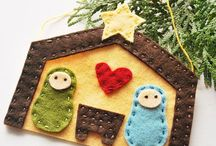 adornos. navidad fieltro