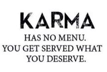 KARMA ❤️❤️❤️❤️❤️❤️ / Karma collection of sayings and photos.