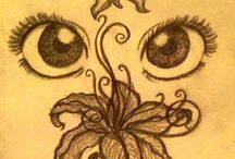 oči s květy