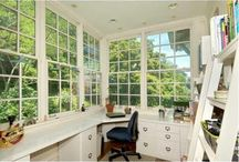 Sunroom Office / by Jessica Thomas