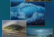 How to paint seascapes / Learn how to paint seascapes with acrylics. #seascapes,#waves,#oceans,#shorelines,#coastal,#breakingwaves,#acrylicpainting