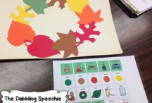 Fall speech therapy ideas