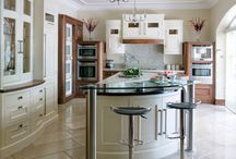 Walnut and Hand Painted classical kitchen by The Design Yard