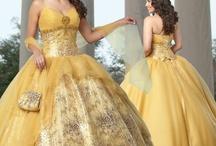 衣裳 - yellow/orange/brown dress