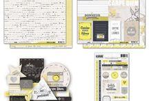 """kit de scrap """"Entre les Lignes"""" / Retrouvez tous nos kit de scrapbooking sur notre boutique en ligne : http://www.paperandsupplies.be/boutique"""