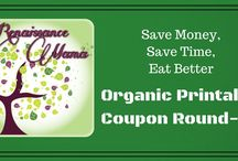 Organic Coupon Roundup / Save money on the organic and natural products you love. New coupons added weekly.