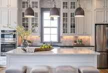 Kitchen cabinets+French glass