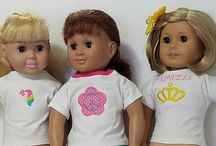 ReeDesigns4Dolls / 18 in doll t-shirt fits American girl dolls.