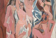 見たい絵画 / 【見たい絵画】 ピカソの「アヴィニョンの娘たち」  キュビズムの新しい表現方法、 古代民族の仮面をモデルにした埋もれた価値観の発掘  ピカソの挑戦が感じられる  MoMA