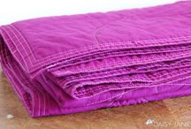sewin' - blankies * quilts * pillows * warmers / by S ♥ M ♥ L