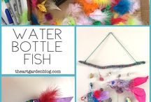 Recycled craft for summer camp