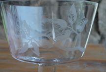Cristalería / Cristales tallados o grabados a mano
