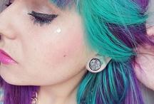 purple n teal