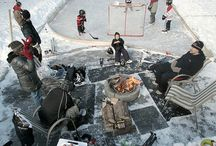 DIY ice hockey rink